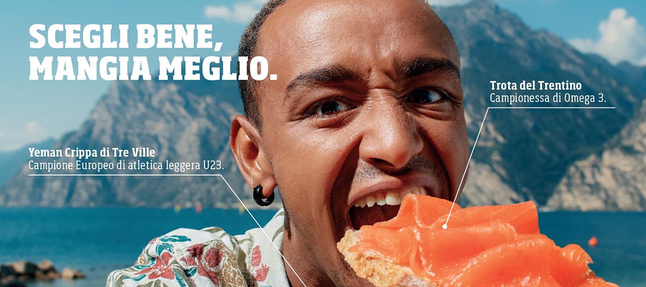 Yeman Crippa - Pubblicità Trota del Trentino